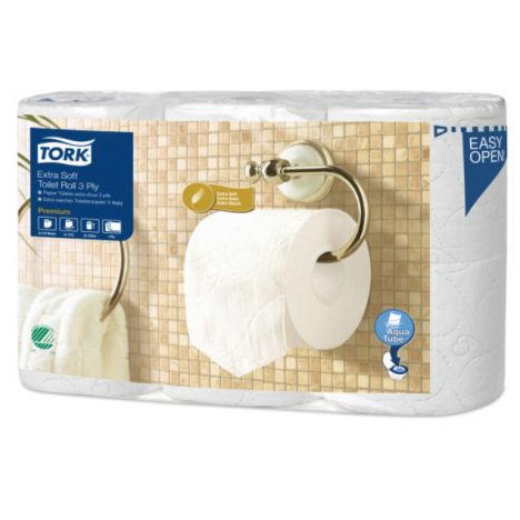Tork Extra Soft Conventional Toilet Roll 3-laags Wit T4