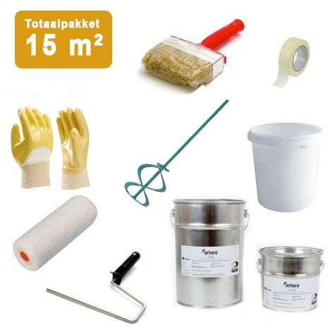 Pakket Epoxy Vloercoating 2-laags - 15m2