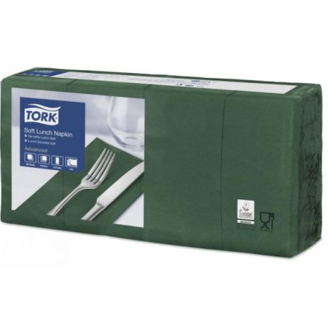 Tork lunchservet 33x33cm 3-laags 1/8-vouw mountain pine green 10x150
